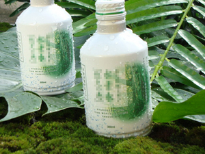 苔と水素水撮影