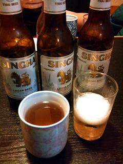 タイ料理=お茶とビール(120119)